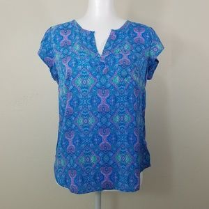 Willi Smith Short Sleeve Blouse Size S